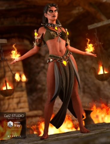 Daemon Outfit for Genesis 3 Female(s)