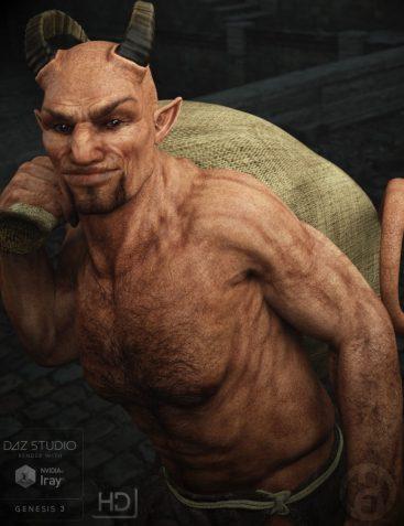 Krampus Demon for Genesis 3 Male