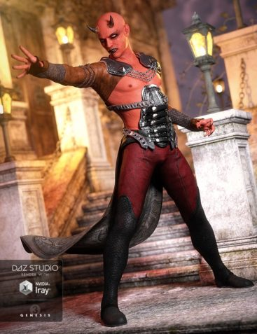 Night Slayer Outfit for Genesis 3 Male(s)
