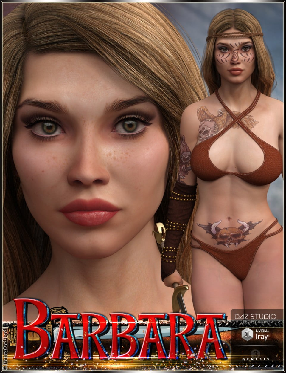 EJ Barbara for Genesis 3 Female(s)
