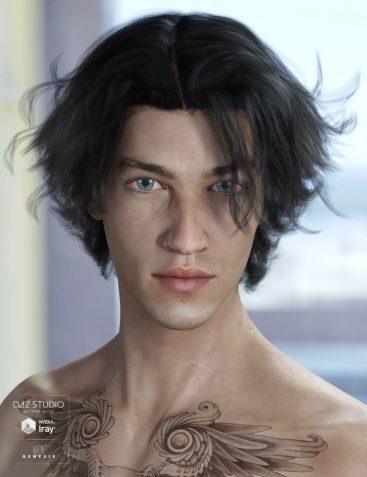 Heath Hair for Genesis 3 Male(s) & Female(s)
