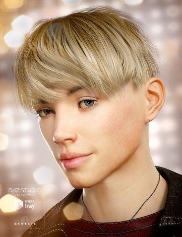 Bowl Cut Hair for Genesis 3 Male(s)