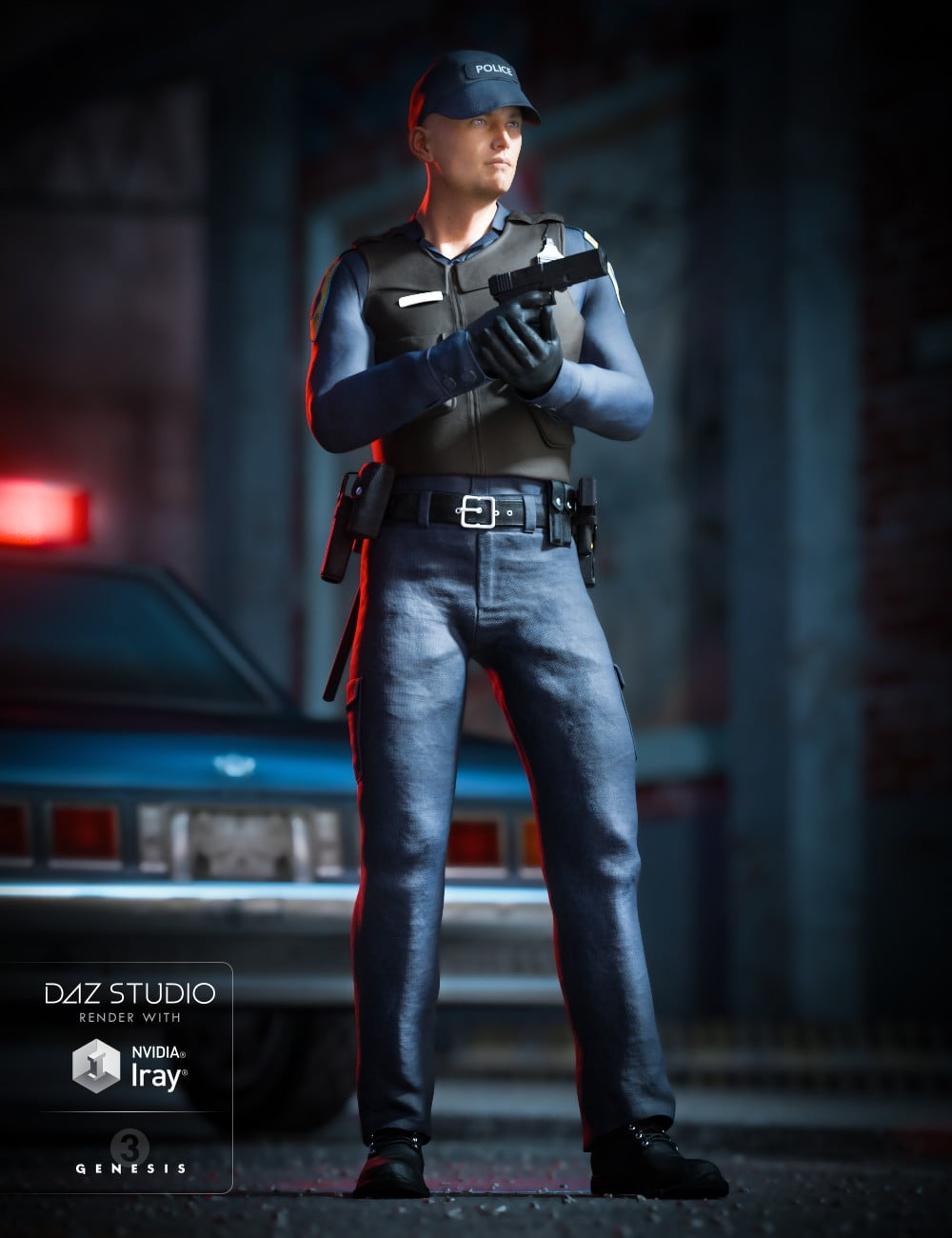 Law Enforcement Outfits for Genesis 2 and 3 Male(s)