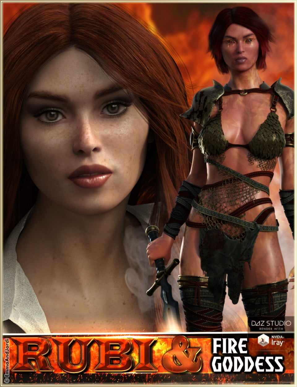 EJ Rubi and Fire Goddess for Genesis 3 Female