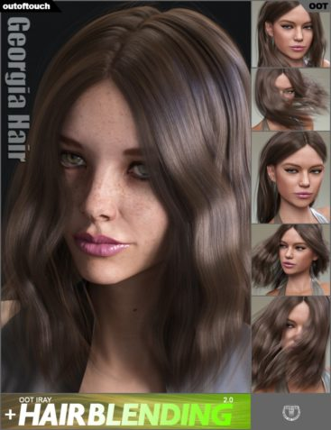 Georgia Hair and OOT Hairblending 2.0 for Genesis 3 Female(s)