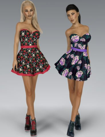 VERSUS - Fads Skater Dress & Ankle Boots Bundle