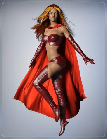 Super Cloak and Superhero Poses for Genesis 3 Female(s)