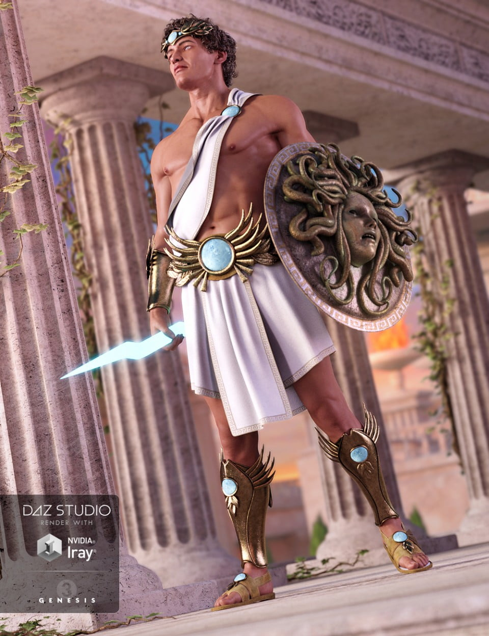 Greek God Outfit for Genesis 3 Male(s)