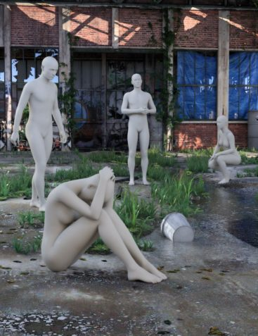 Desolation Road: Poses for Genesis 3 Female and Male