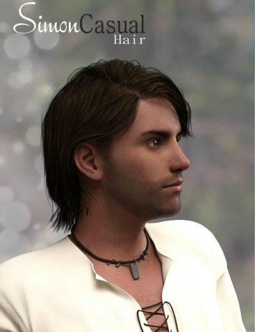 Simon Casual Hair for Genesis 3 Male(s)