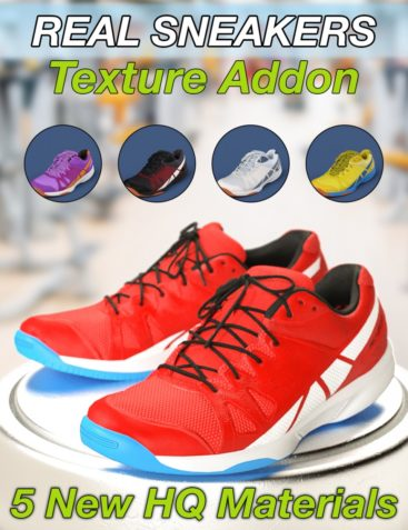 Slide3D Real Sneakers for Genesis 3 Female(s) Texture Addon