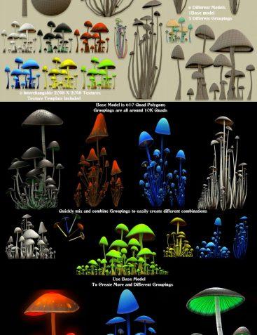 MushroomZ Set1 - Extended License