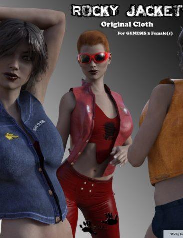 Rocky Jacket for Genesis 3 Females