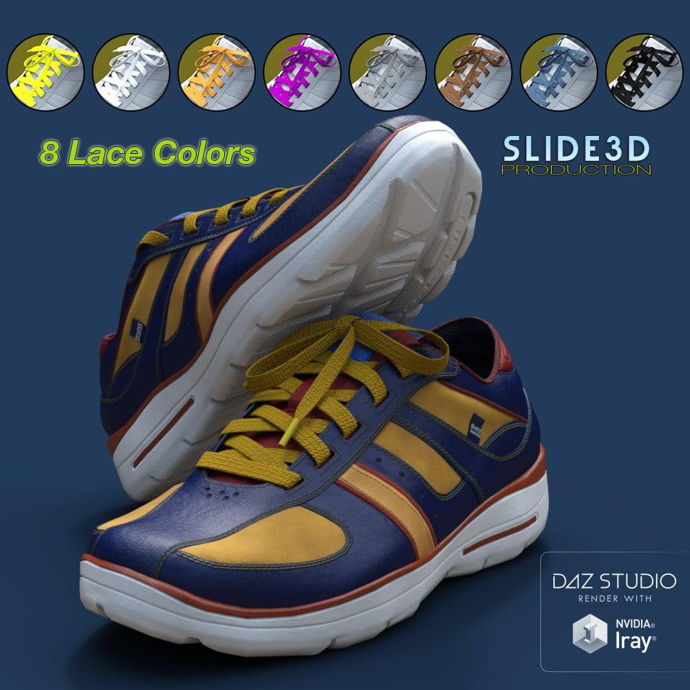 Slide3D Sport Sneakers for Genesis 3 Female(s) Texture Addon