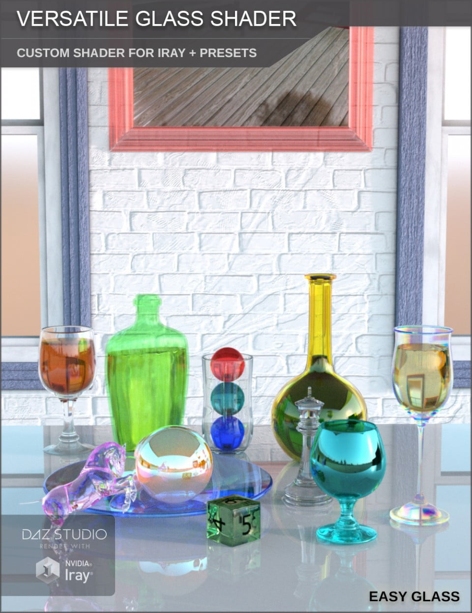 Versatile Glass Shader - Custom Shader and Presets for Iray