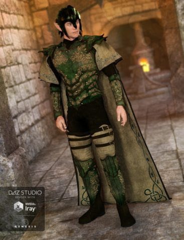 Elven Knight Armor for Genesis 3 Male(s)