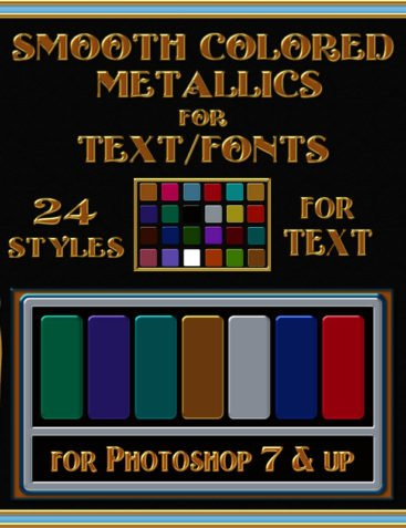 One-Click Metallic Text Layer Styles