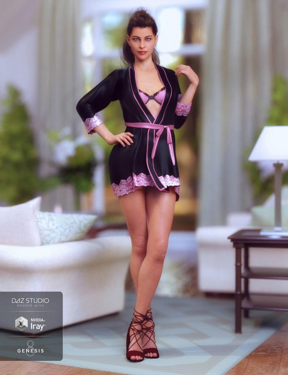 Lingerie Robe Set for Genesis 8 Female(s)
