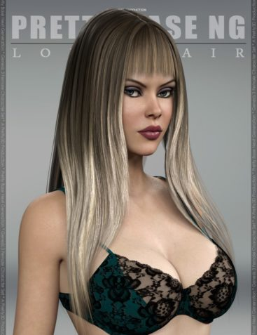 Pretty Base NG Long Hair for Genesis 3 Female(s)