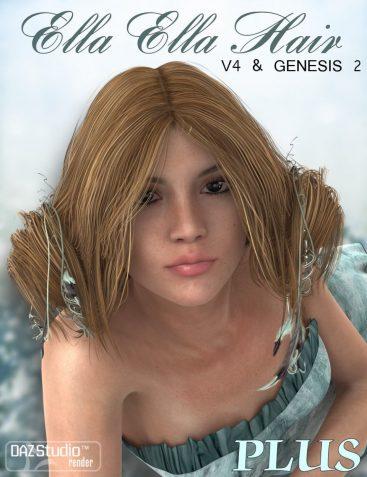 Ella Ella Hair PLUS for V4 and Genesis 2 Female(s)
