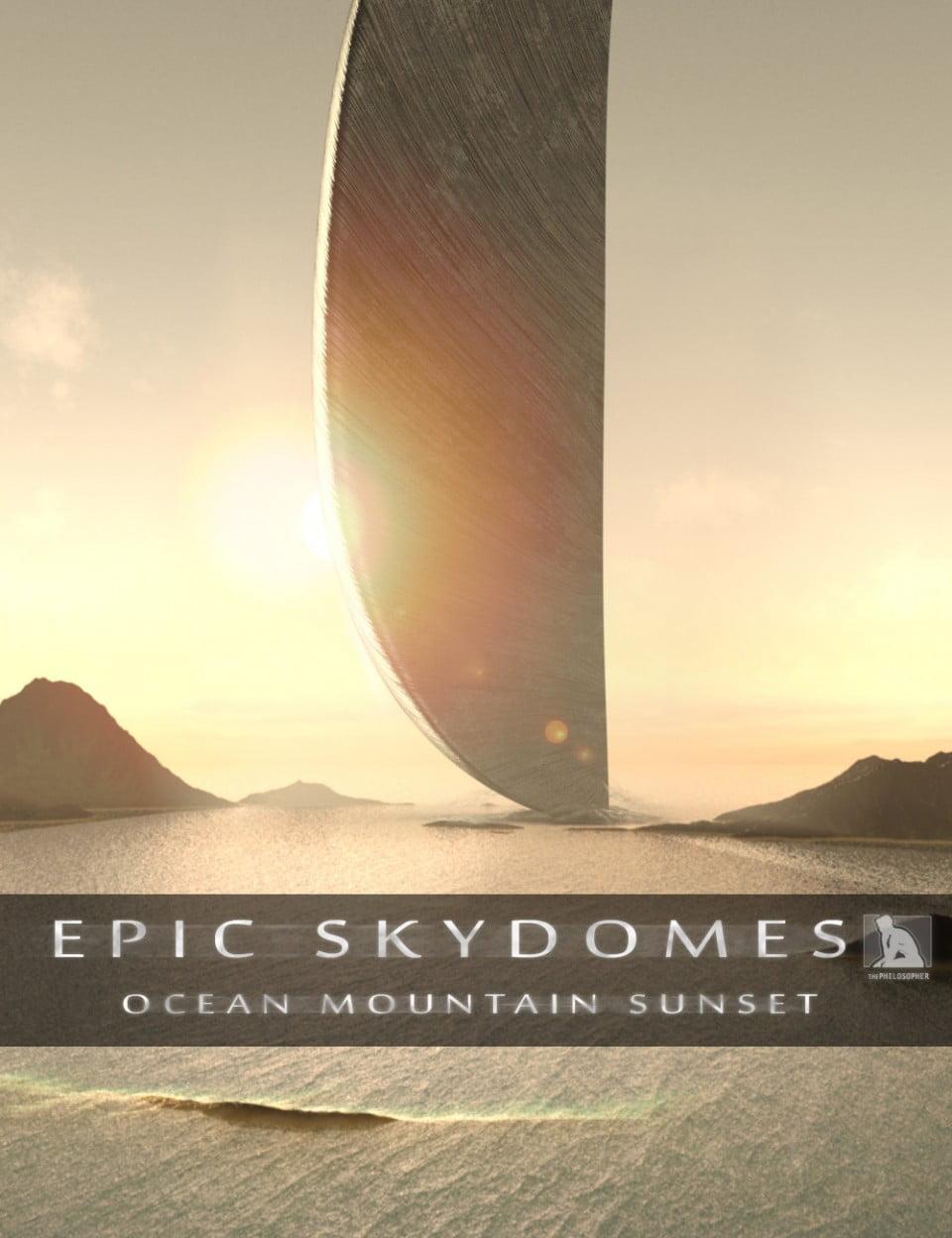 Epic Skydomes – Ocean Mountain Sunset HDRI