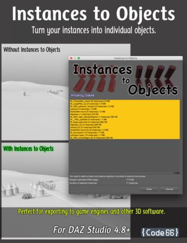 Instances to Objects