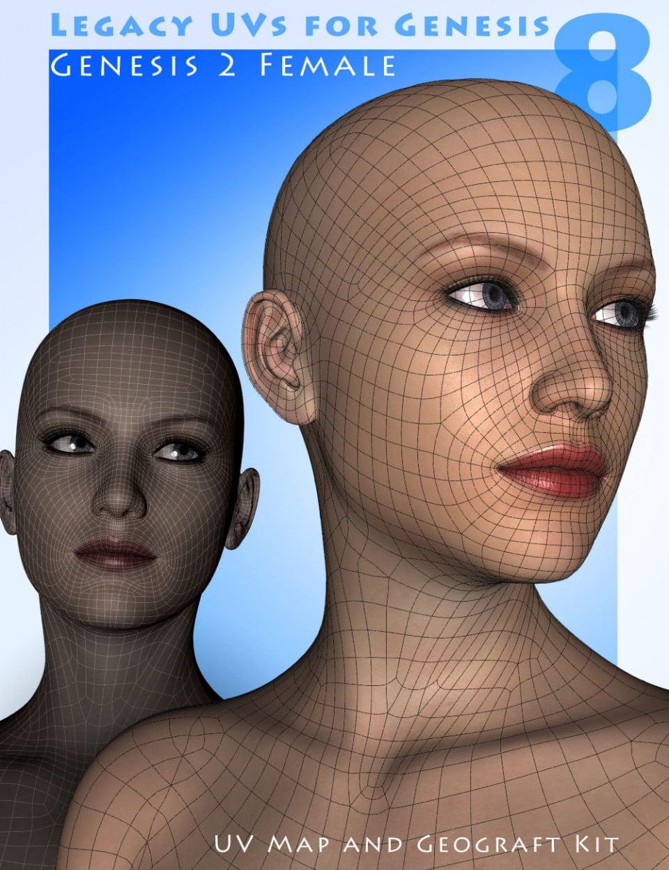 Legacy UVs for Genesis 8 Genesis 2 Female