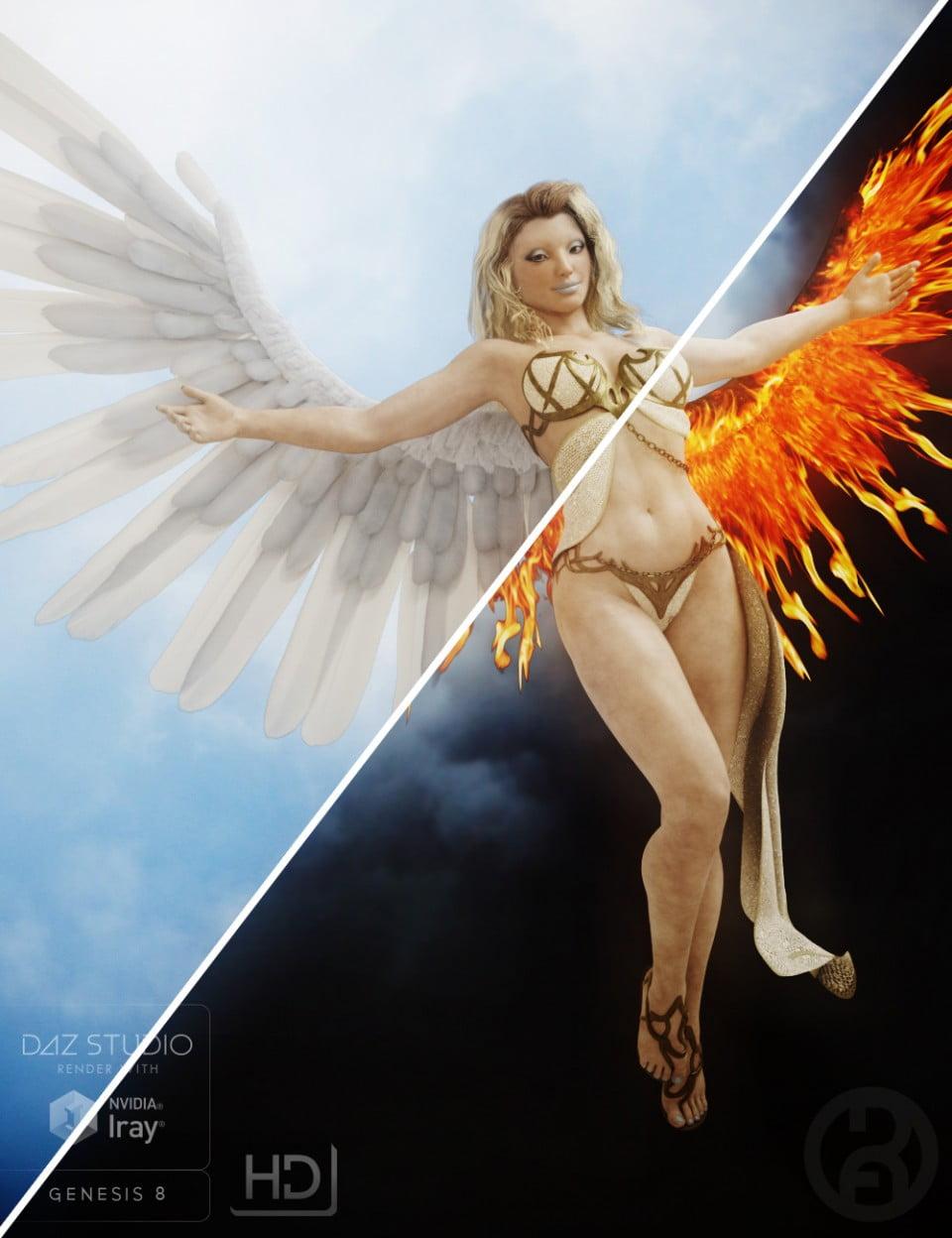 Seraphim Wings for Genesis 8 Female