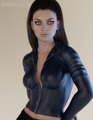 X-Fashion Biker Jacket for Genesis 3 Female(s)