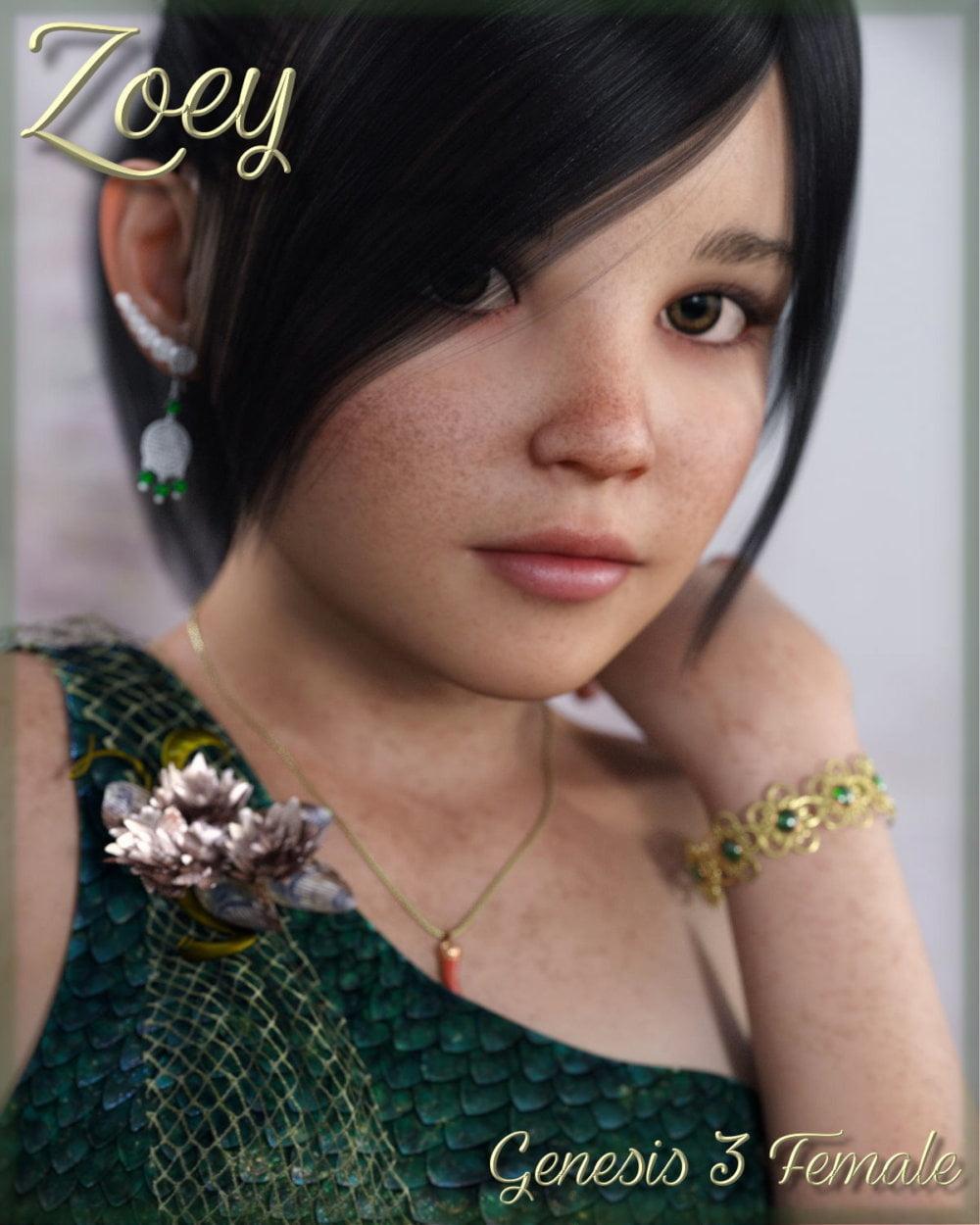 Zoey for Genesis 3 Female - character, daz-poser-carrara