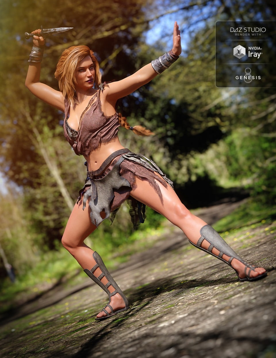 Barbarian Warrior Outfit for Genesis 8 Female(s)