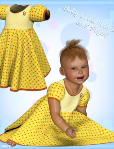 Baby Luna Frill Dress and 5 Styles