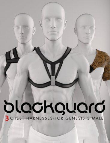 Shimuzu's Blackguard: 3 Harnesses for Genesis 3 Male