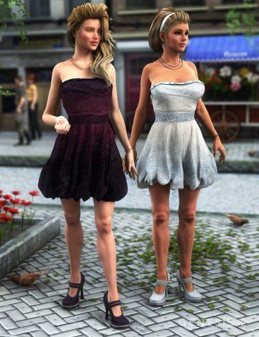 Stylish Bubble Dress Textures