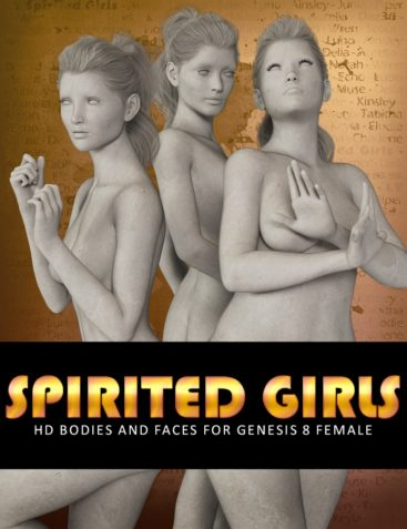 LY Spirited Girls HD Bodies and Faces for Genesis 8 Female