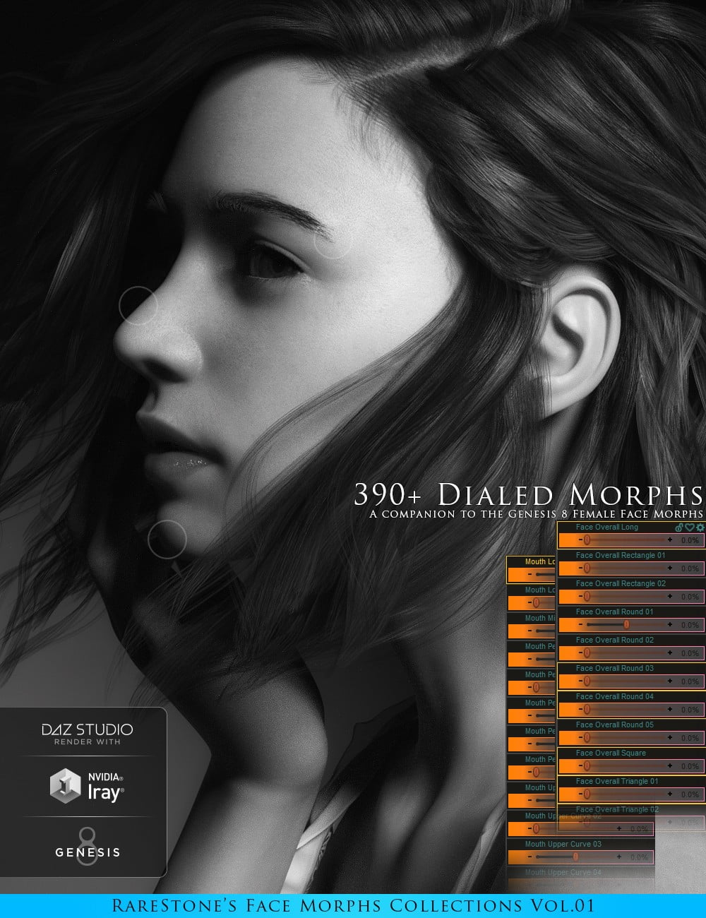 RareStone's Face Morphs Collection for Genesis 8 Female
