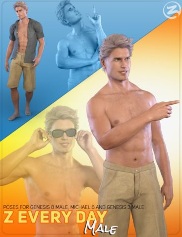Z Everyday Male - Poses for Genesis 3 Male, Genesis 8 Male and Michael 8