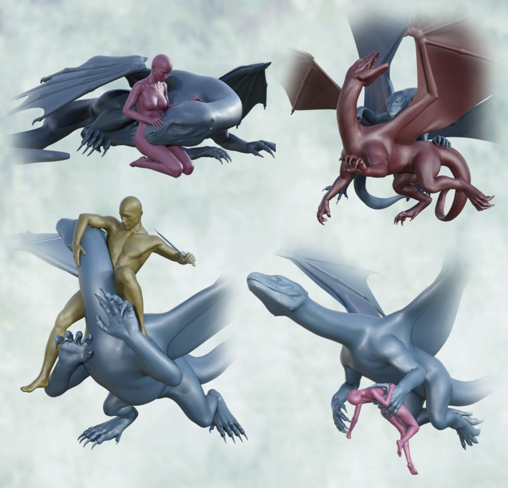 Daz Dragon 3, Victoria 8 and Michael 8 Poses