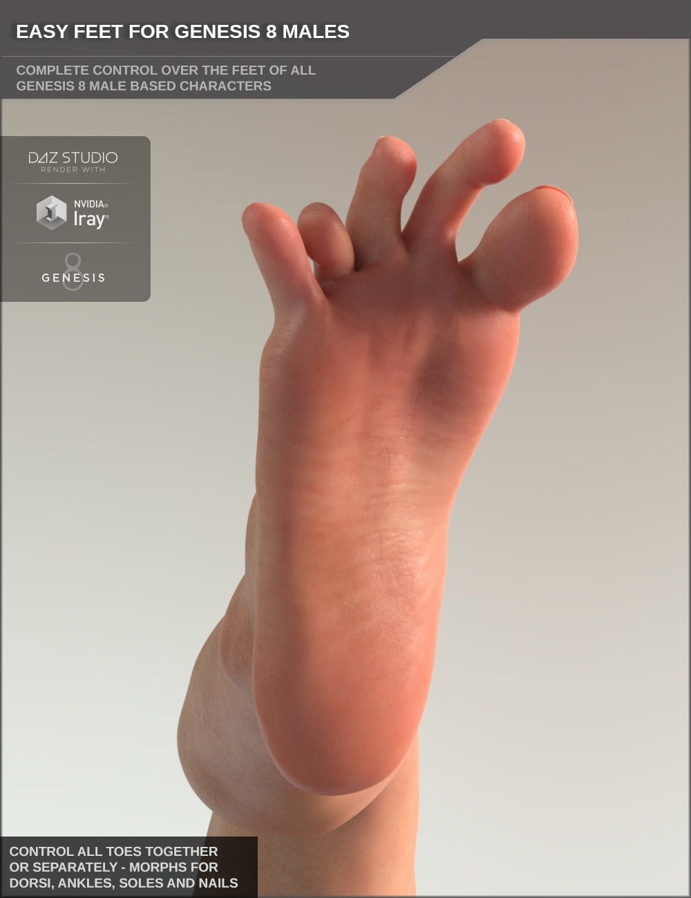 Easy Feet for Genesis 8 Male