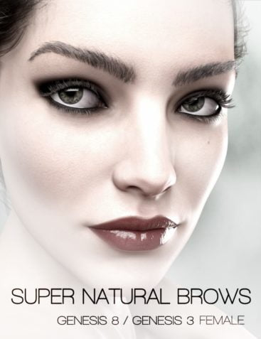 Super Natural Brows Merchant Resource for Genesis 8 and 3 Female
