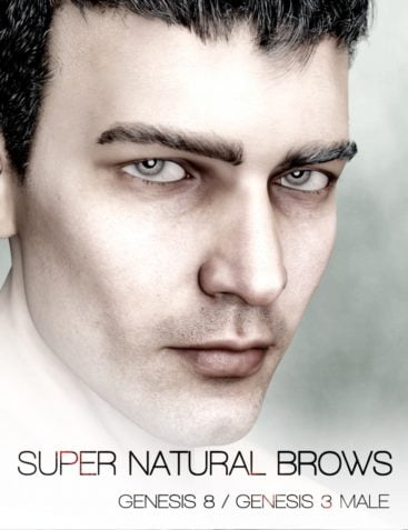 Super Natural Brows Merchant Resource for Genesis 8 and 3 Male