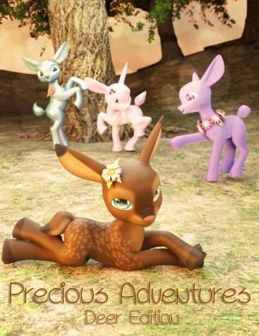 Precious Adventures Poses for Precious Deer