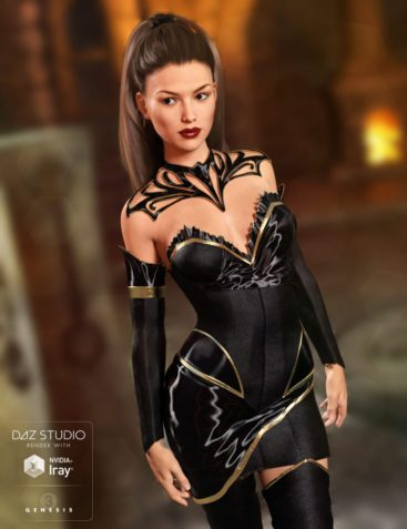 Keeper of the Sun Outfit for Genesis 3 Female(s) and Genesis 8 Female(s)