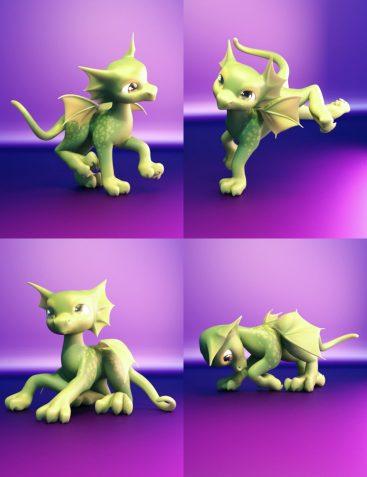 Precious Adventures Poses for Precious Dragon