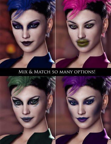 Extreme Closeup: Smokey Rebel Makeup for Genesis 3 and 8 Female(s)