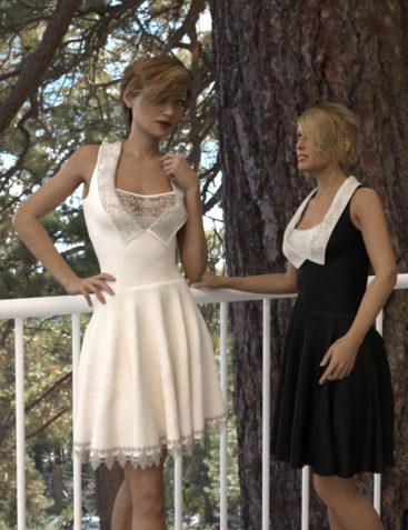 dForce Gored Dress for Genesis 3 and 8 Female(s)