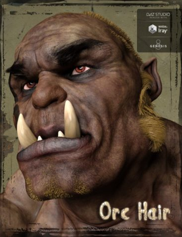 Orc Hair and Beards for Orc Brute and Genesis 8 Male(s)