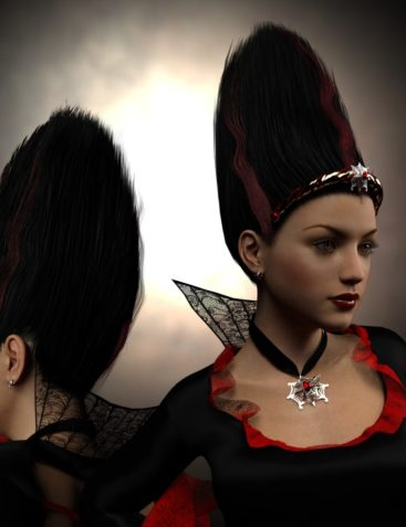 MadBride Jewelry and Hair for Genesis 3 Female(s)