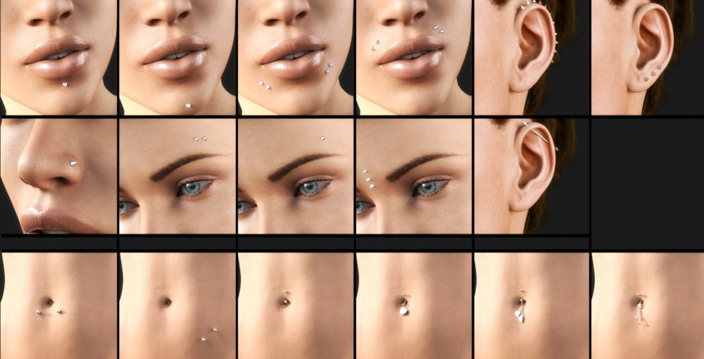 Piercing Collection for Genesis 8 Female(s)
