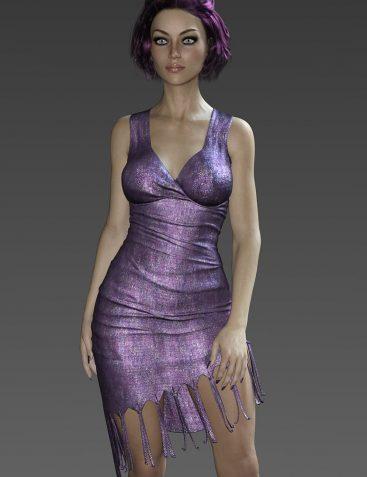 Storm Fringe Dress for G3F